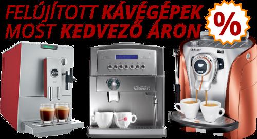 Akciós kávégépek kedvező áron