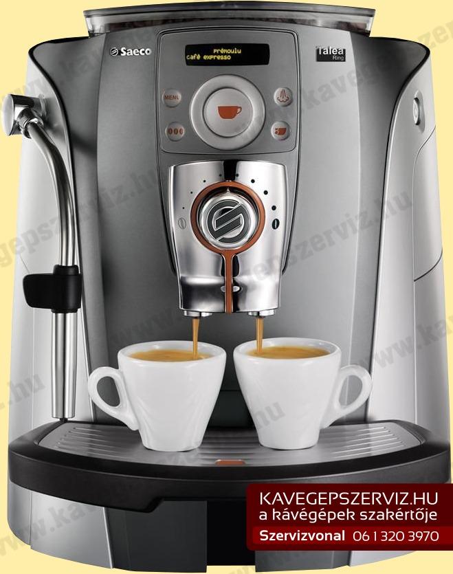 Saeco Talea Ring kávéfőző kávégép szerviz gyári alkatrészekkel ...