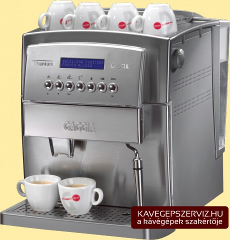 Gaggia Titanium kávéfőző gép